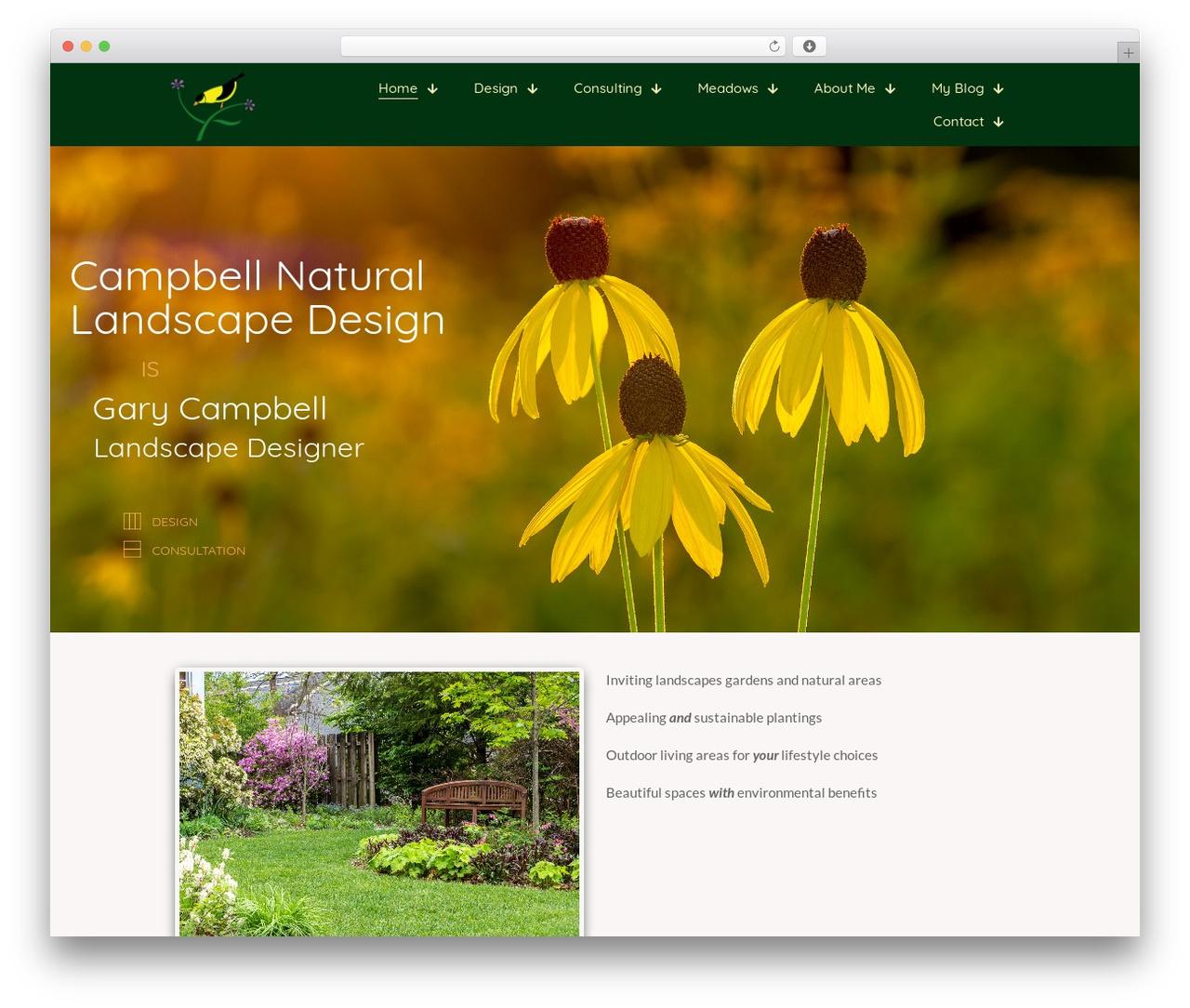 Template WordPress Betheme - campbelllandscape.com