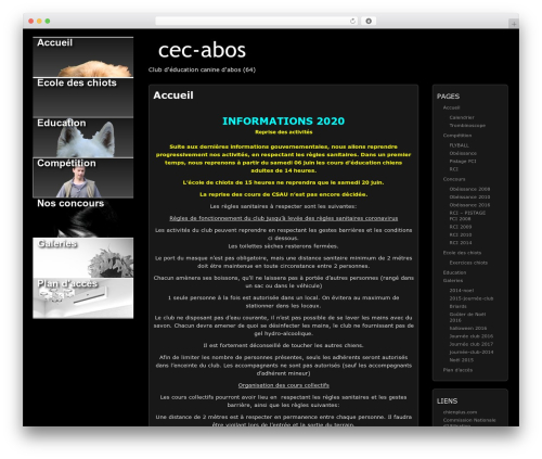 WordPress template Picture Perfect - cec-abos.fr