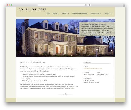 Acoustic WordPress template - cdhallbuilders.com