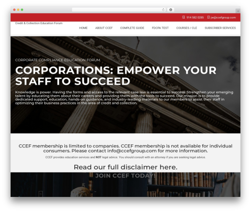 Best WordPress theme Bright - ccefgroup.com