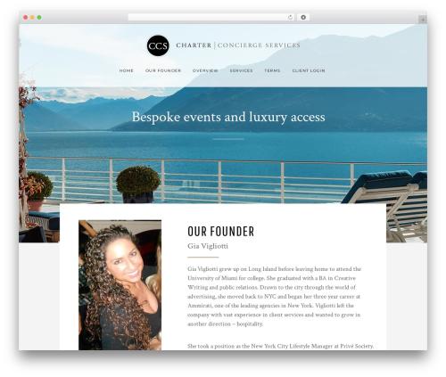 Bridge WordPress theme - charterconcierge.nyc