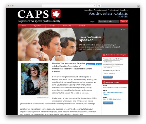 Caps theme WordPress - caps-swo.com