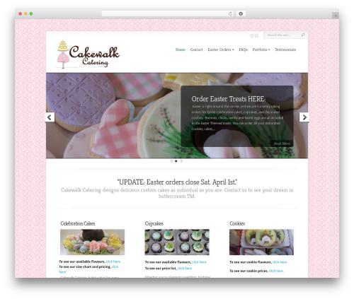 Chameleon WordPress wedding theme - cakewalkcatering.com