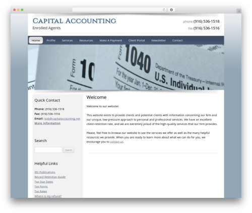 Customized WordPress template for business - capitalaccounting.net