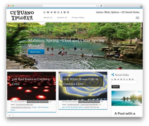 Customizr Pro WordPress travel theme - cebuanoexplorer.com