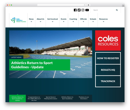 Elite WordPress template - walittleathletics.com.au