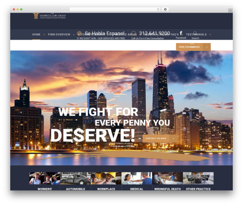 Libero WordPress template for business - chicago-personal-injury-lawyers.us
