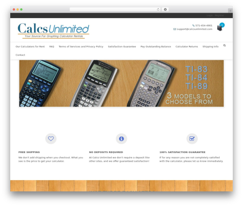 Shoptan premium WordPress theme - calcsunlimited.com