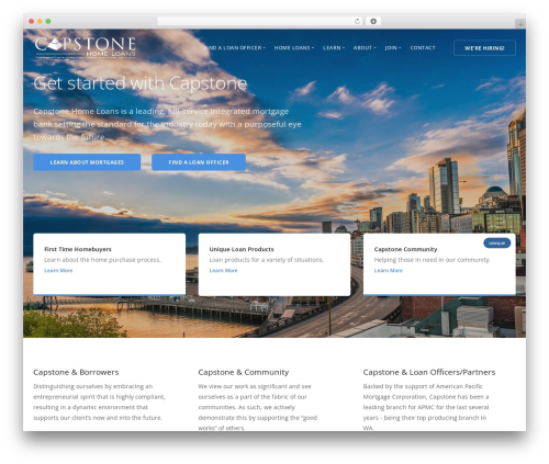 Stack WordPress theme - capstonehomeloans.com