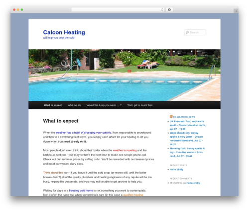 Twenty Eleven free WP theme - calconheating.com