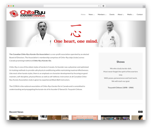Ultra Premium WordPress theme - canadianchitoryu.ca