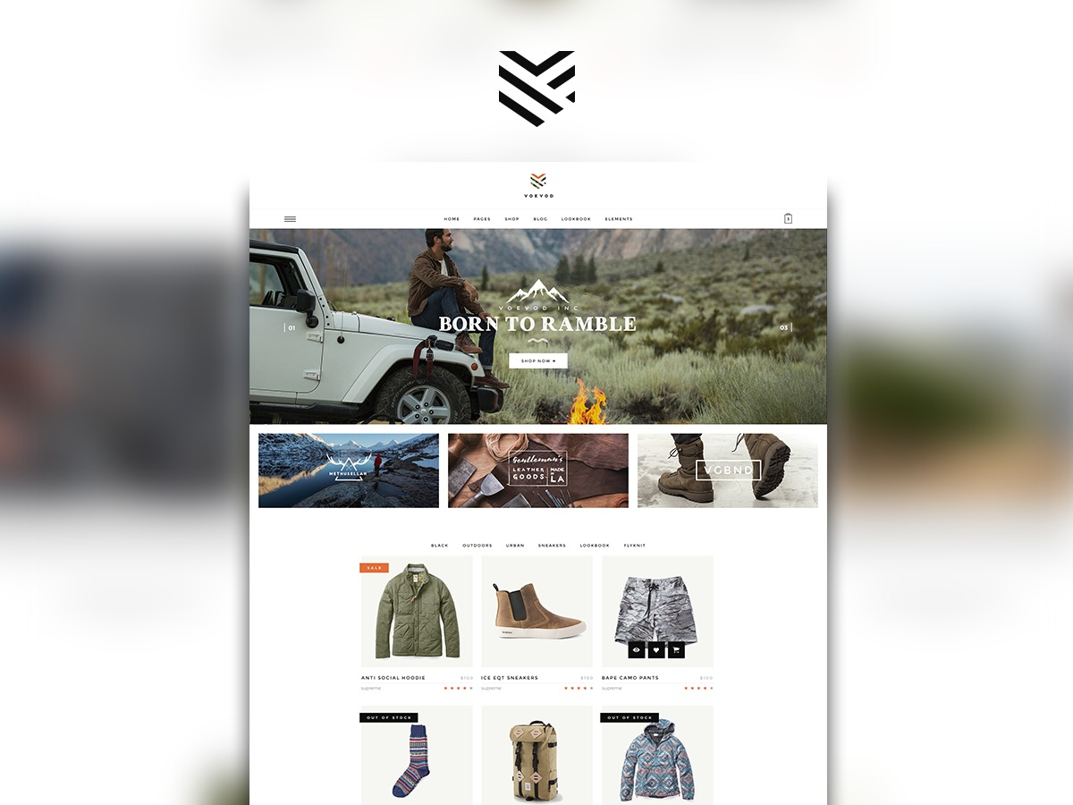 Voevod WordPress ecommerce template