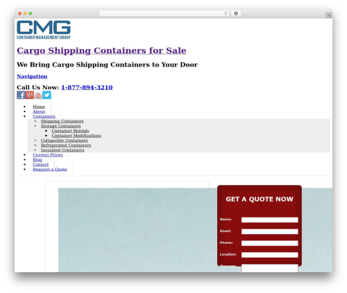 Whitelight WordPress website template - cargoshippingcontainersforsale.com