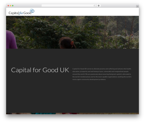 WordPress template Zerif Lite - capitalforgood.org.uk