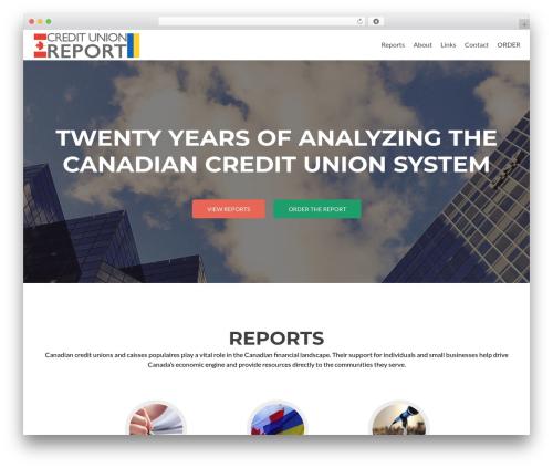 Zerif Lite free WordPress theme - canadiancreditunion.ca