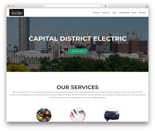Zerif Lite free WordPress theme - capitaldistrictelectric.com