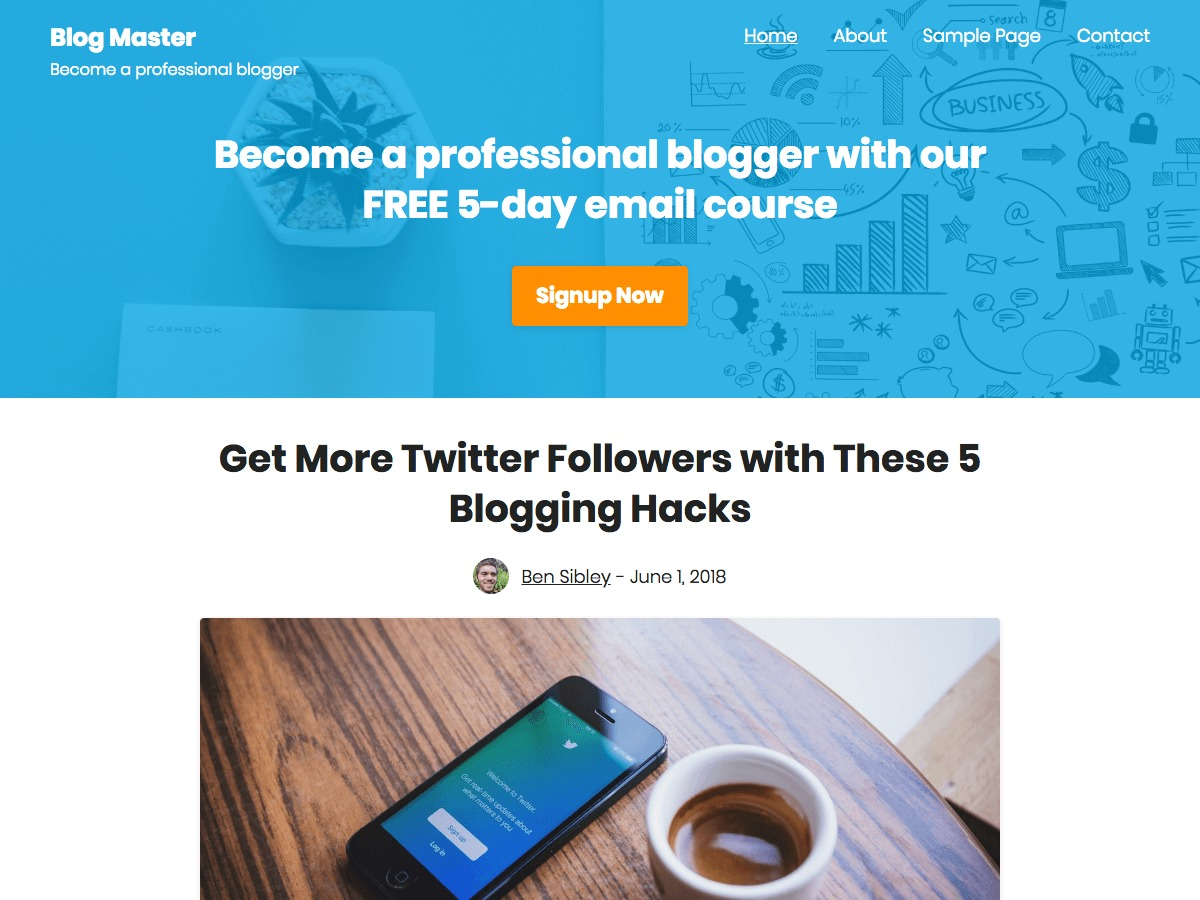 challenger WordPress website template