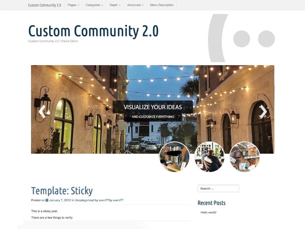 Custom Community WordPress shop theme