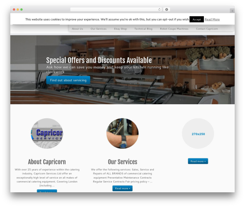 Customizr free website theme - capricornservice.com