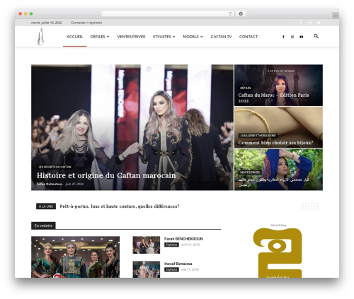 Newspaper best WordPress magazine theme - caftandumaroc.com