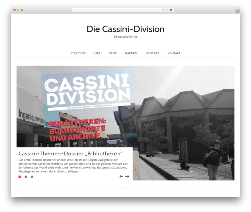 Pho WordPress template - cassinidivision.de