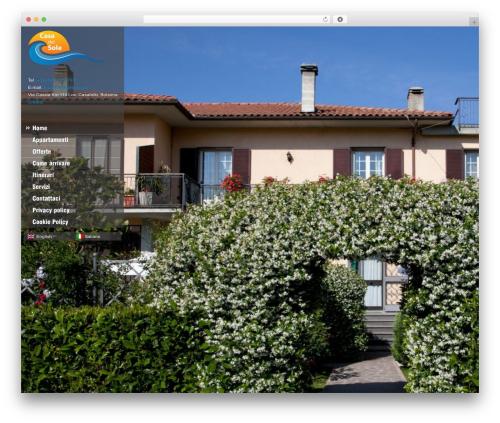 Ristorante top WordPress theme - casadelsoleresidence.it