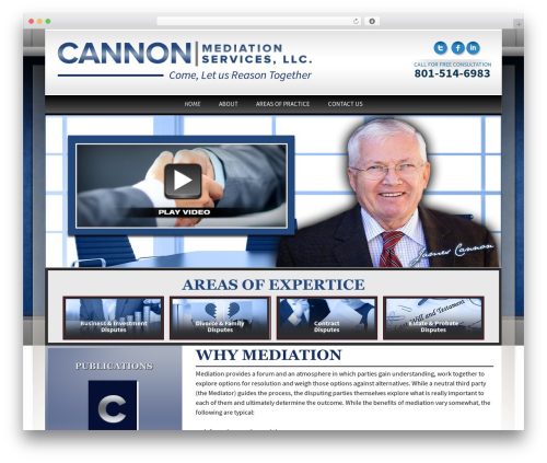Thirteen business WordPress theme - cannonmediationservices.com