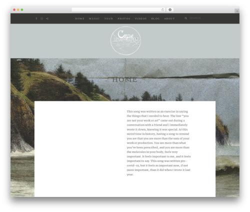 WordPress template Zillah - capedisappointmentmusic.com