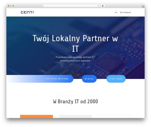 WordPress theme Divi - centi.pl