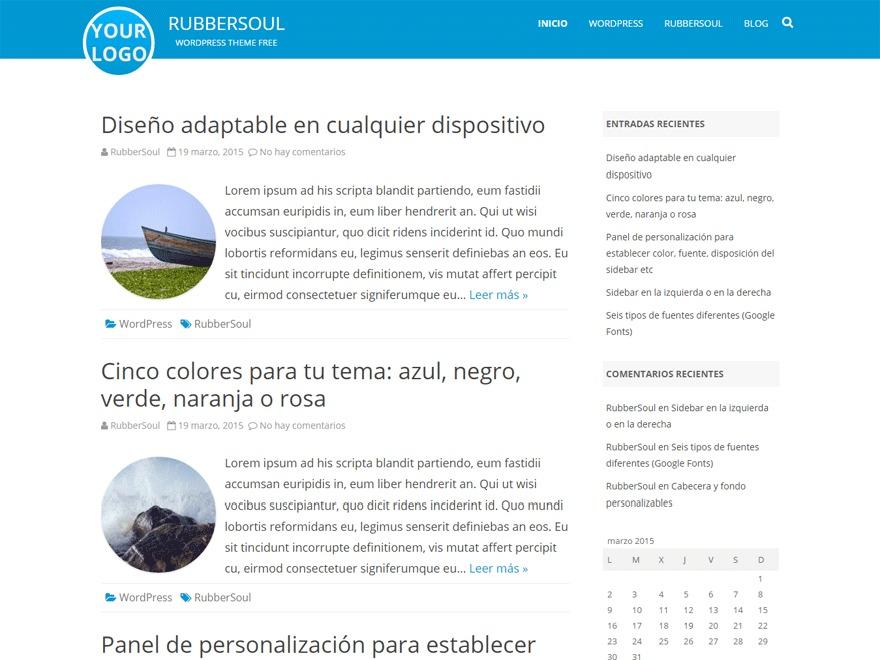 WordPress theme RubberSoul