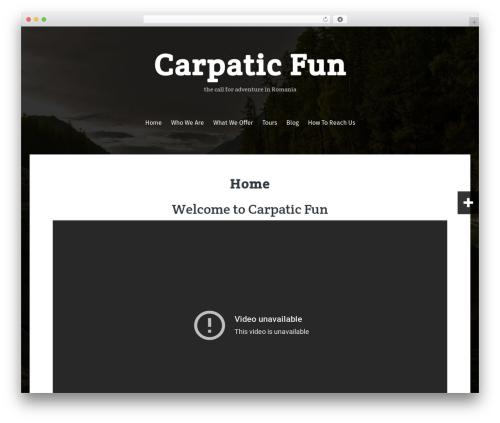 Fara free WordPress theme - carpaticfun.com