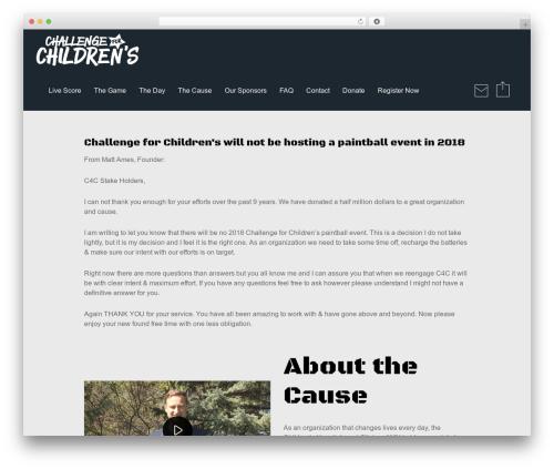 Reload WordPress website template - challengeforchildrens.com