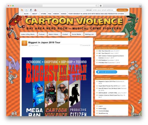 Suffusion WordPress theme design - cartoon-violence.com