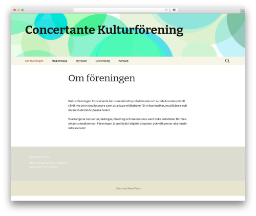 Twenty Thirteen WP template - concertante.se