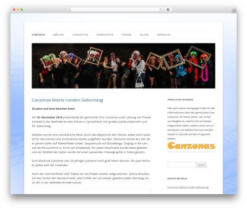 Twenty Twelve template WordPress free - canzonas.de