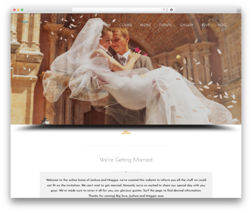 Wedding Suite WordPress wedding theme - caniwedyou.com