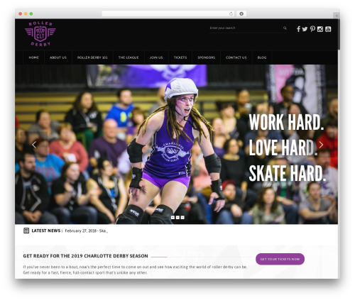 WordPress theme GoalKlub - charlotterollergirls.com