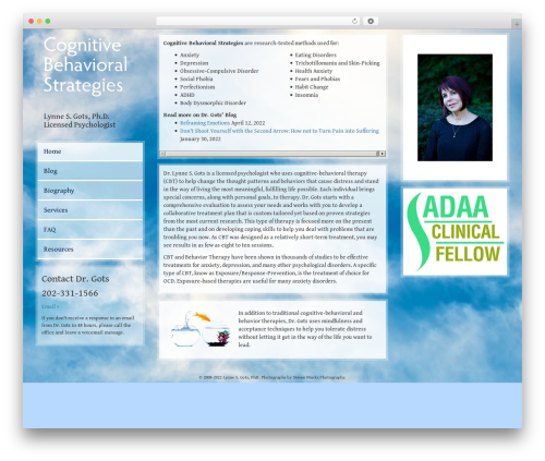 WordPress website template Sky - cognitivebehavioralstrategies.com