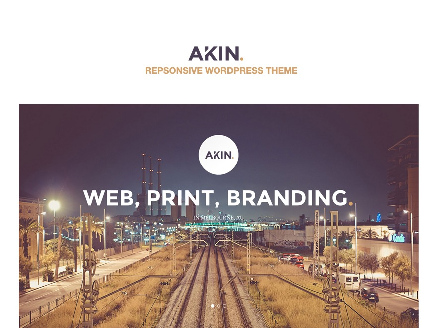 Akin Child WordPress portfolio template