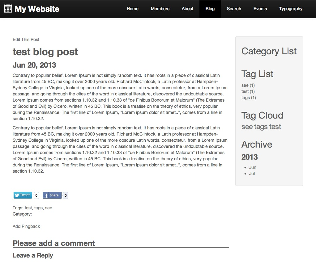 arborsTheme WordPress theme