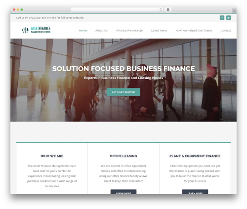 Avada WordPress template for business - financeandleasing.org