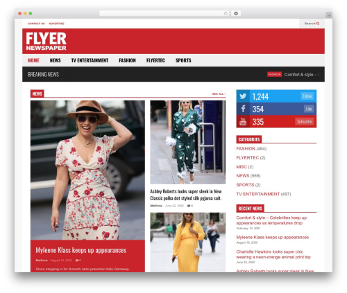 Best WordPress template FlatNews - flyernewspaper.com