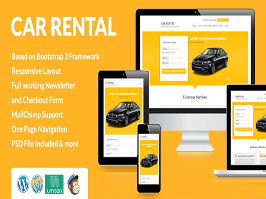 Car Rental car rental WordPress theme