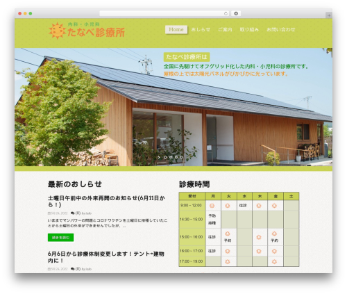 Carry Hill 1.2 premium WordPress theme - tanabeclinic.jp