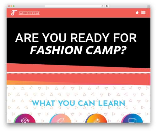 Dance Studio WordPress theme - fashioncampnyc.com
