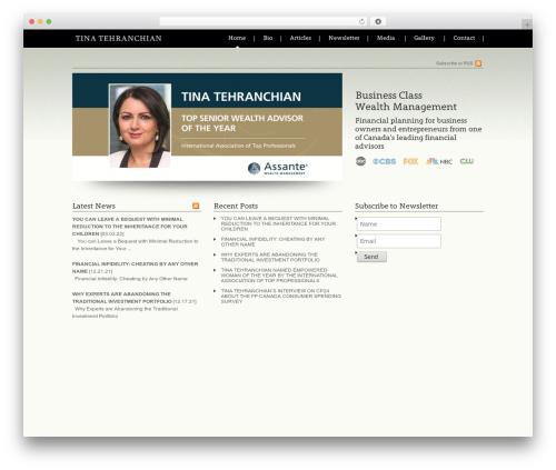 Devster best WordPress template - tinatehranchian.net