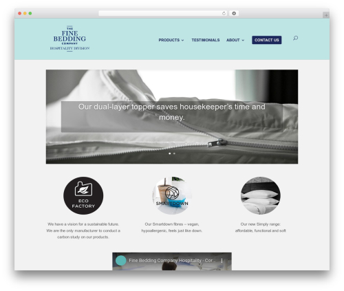 Divi WordPress website template - finebeddinghotels.co.uk