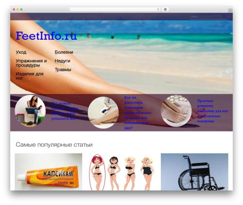 feetinfo WordPress theme - feetinfo.ru