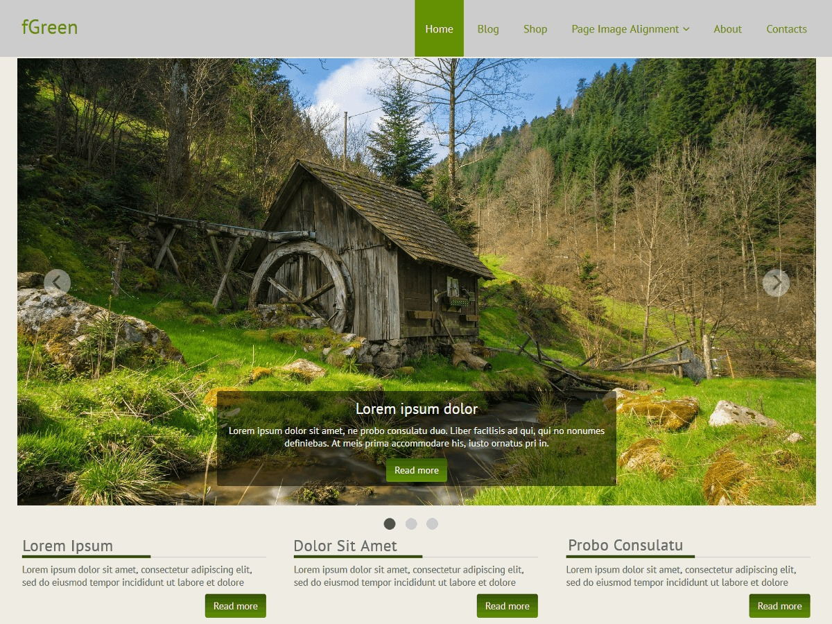 fGreen theme free download