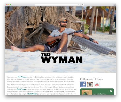 Flat Bootstrap free WordPress theme - ted-wyman.com